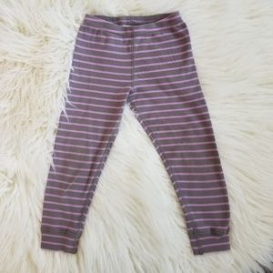 Hanna Andersson 100cm pink and gray striped pants